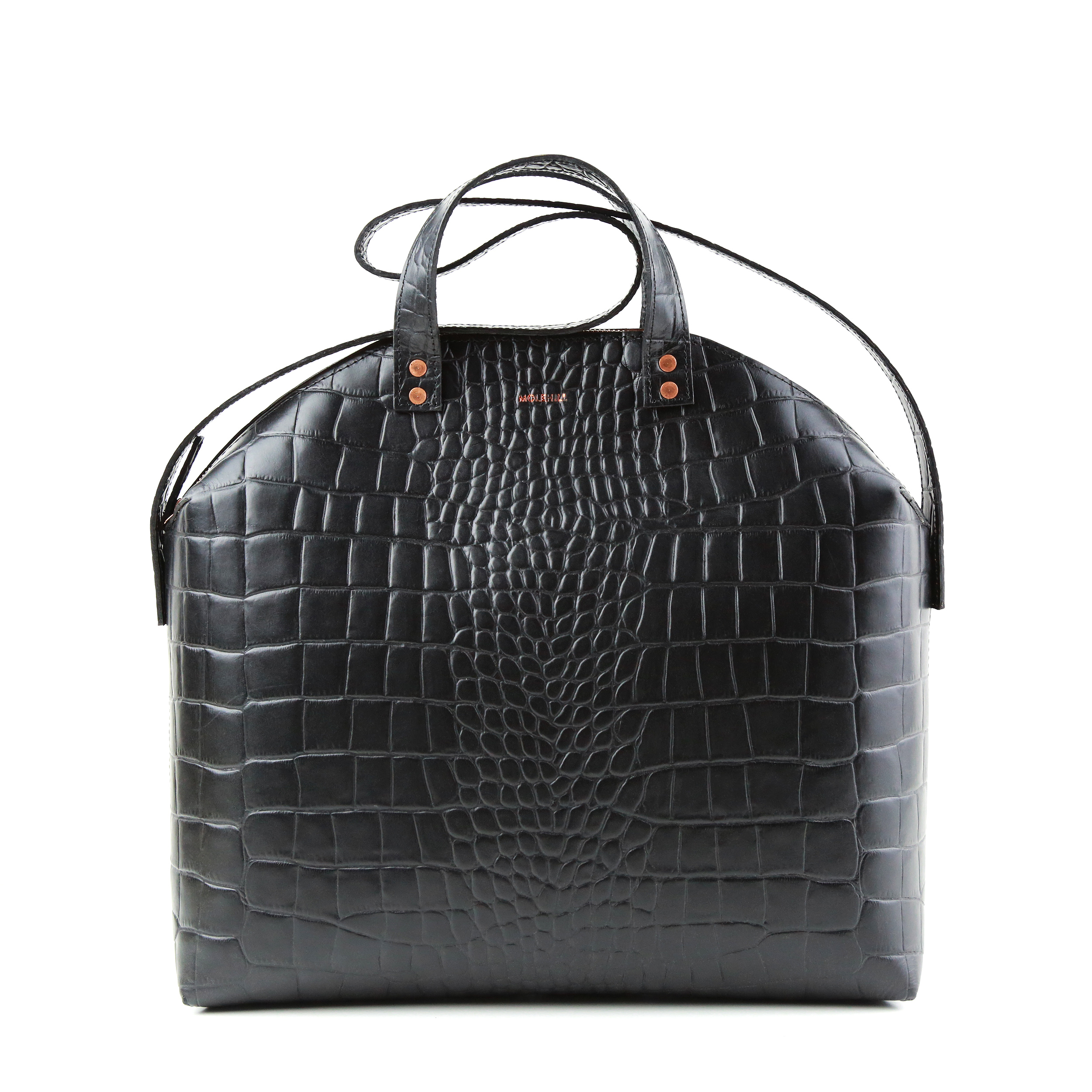 MADURA Handbag Croco Black Sample Sale-1