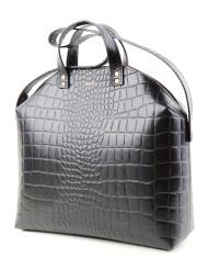 MADURA Handbag Croco Black Sample Sale-2
