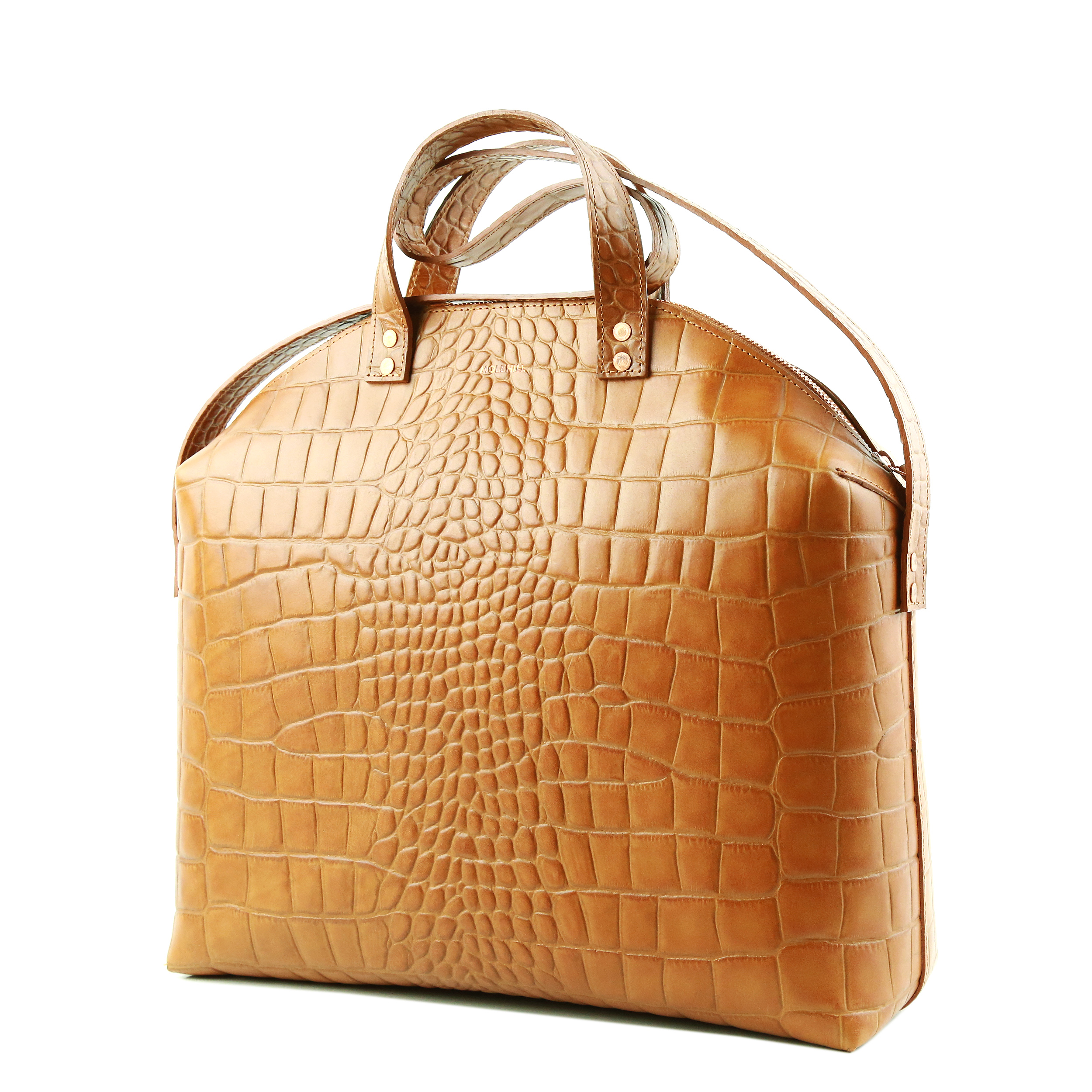 MADURA Handbag Croco Honey Sample Sale-2
