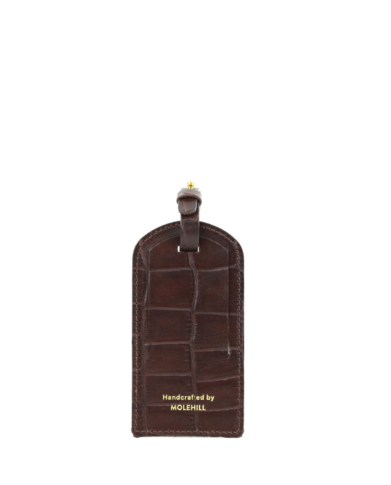 Travel Tag Croco Brown 1