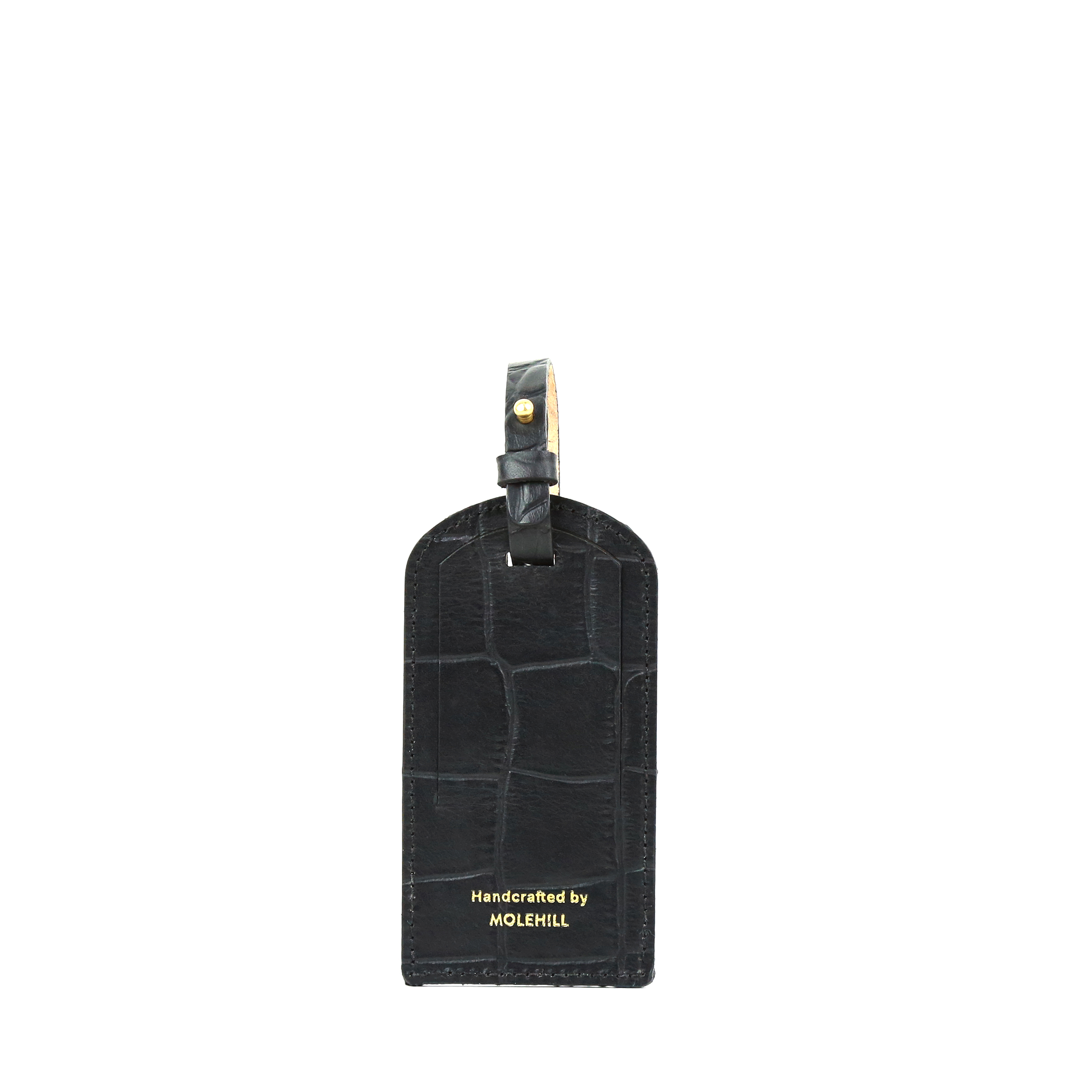 Travel Tag Dark Croco Black 1