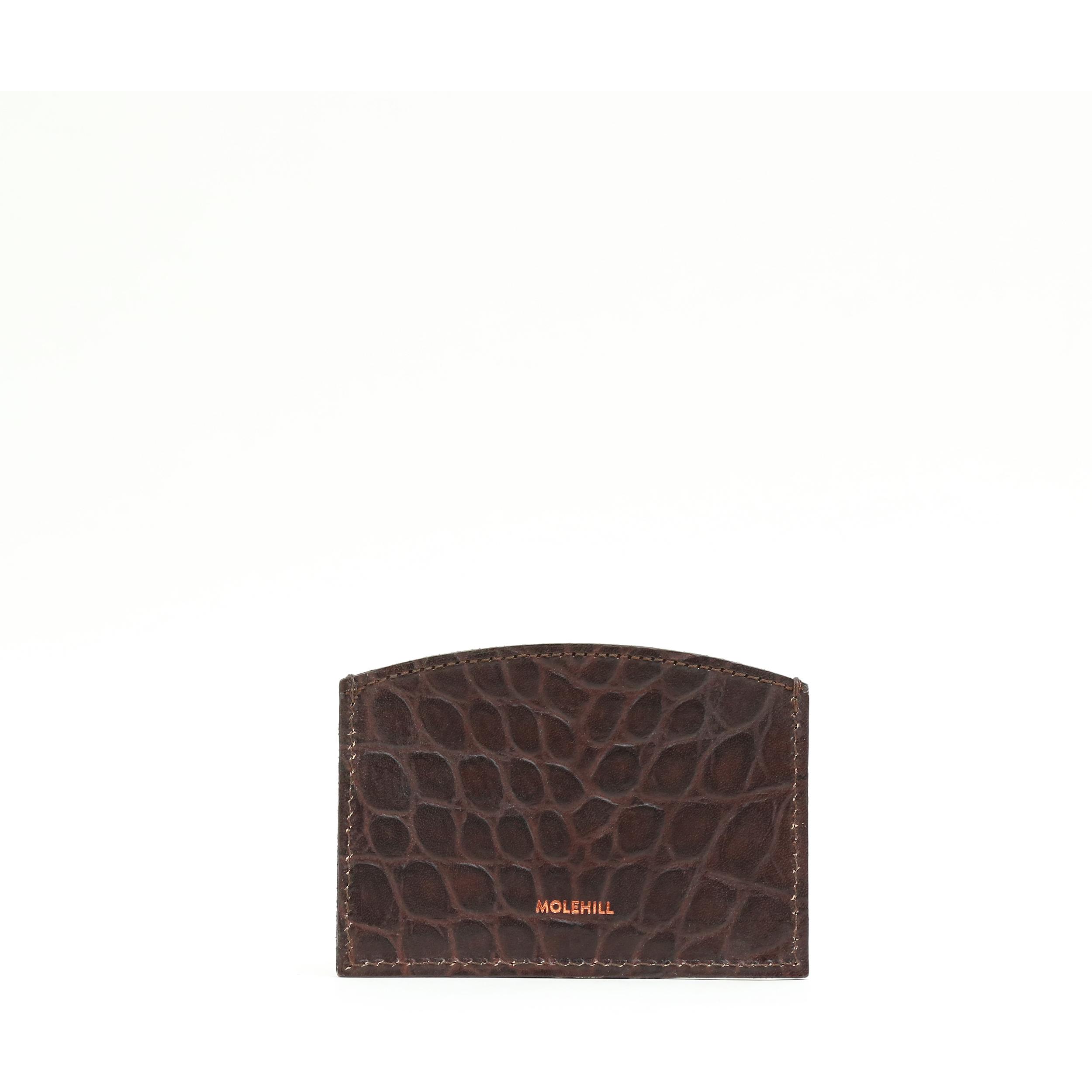 CARD HOLDER CROCO Brown 2-1