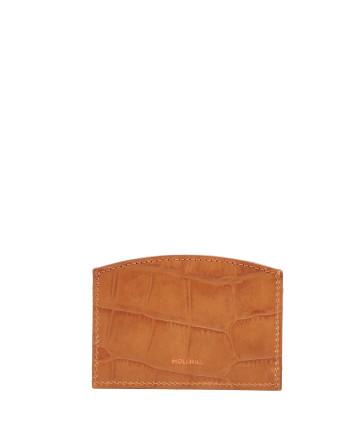 CARD HOLDER CROCO Honey 1-1