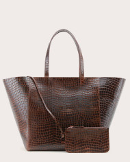 Torba ESTE Large Zip Weekender Bag Croco 2