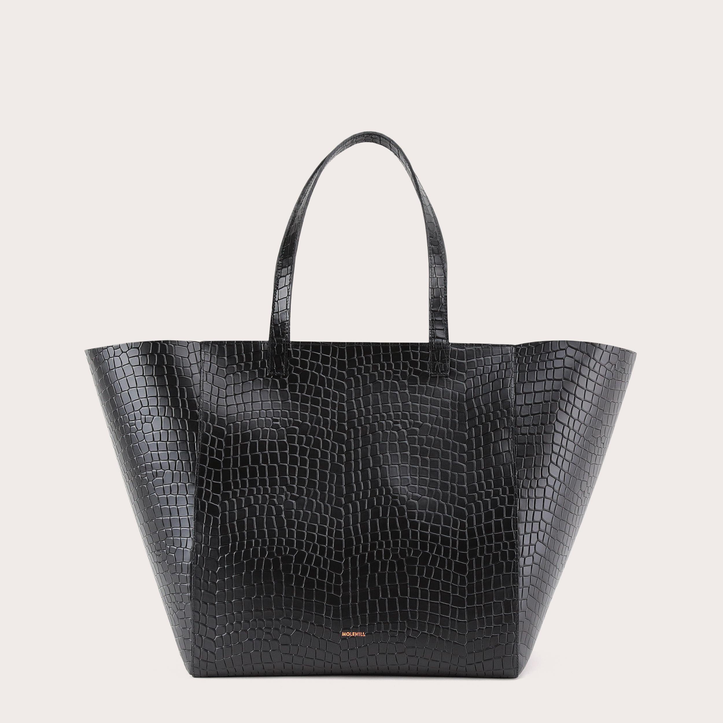 Torba ESTE Large Zip Weekender Bag Croco Black 1
