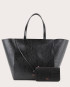 Torba ESTE Large Zip Weekender Bag Croco Black 2
