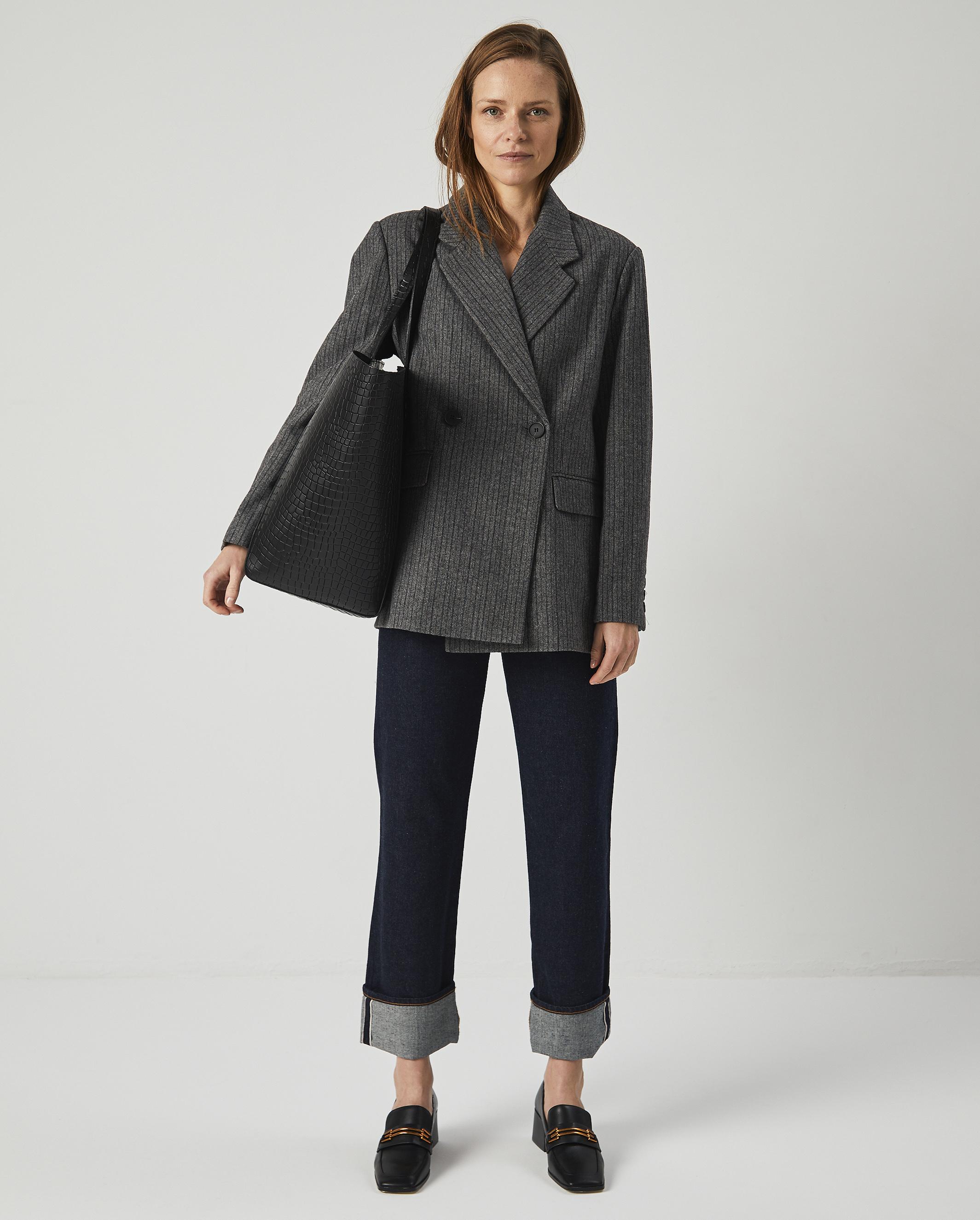 Torba ESTE Large Zip Weekender Bag Croco Black 6