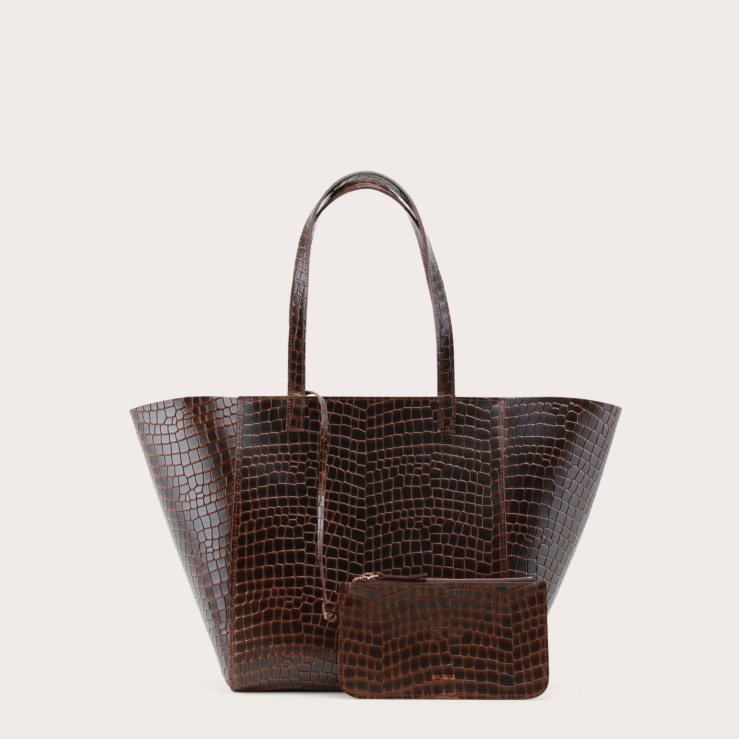 Torba ESTE Medium Zip Shopper Bag Croco 2