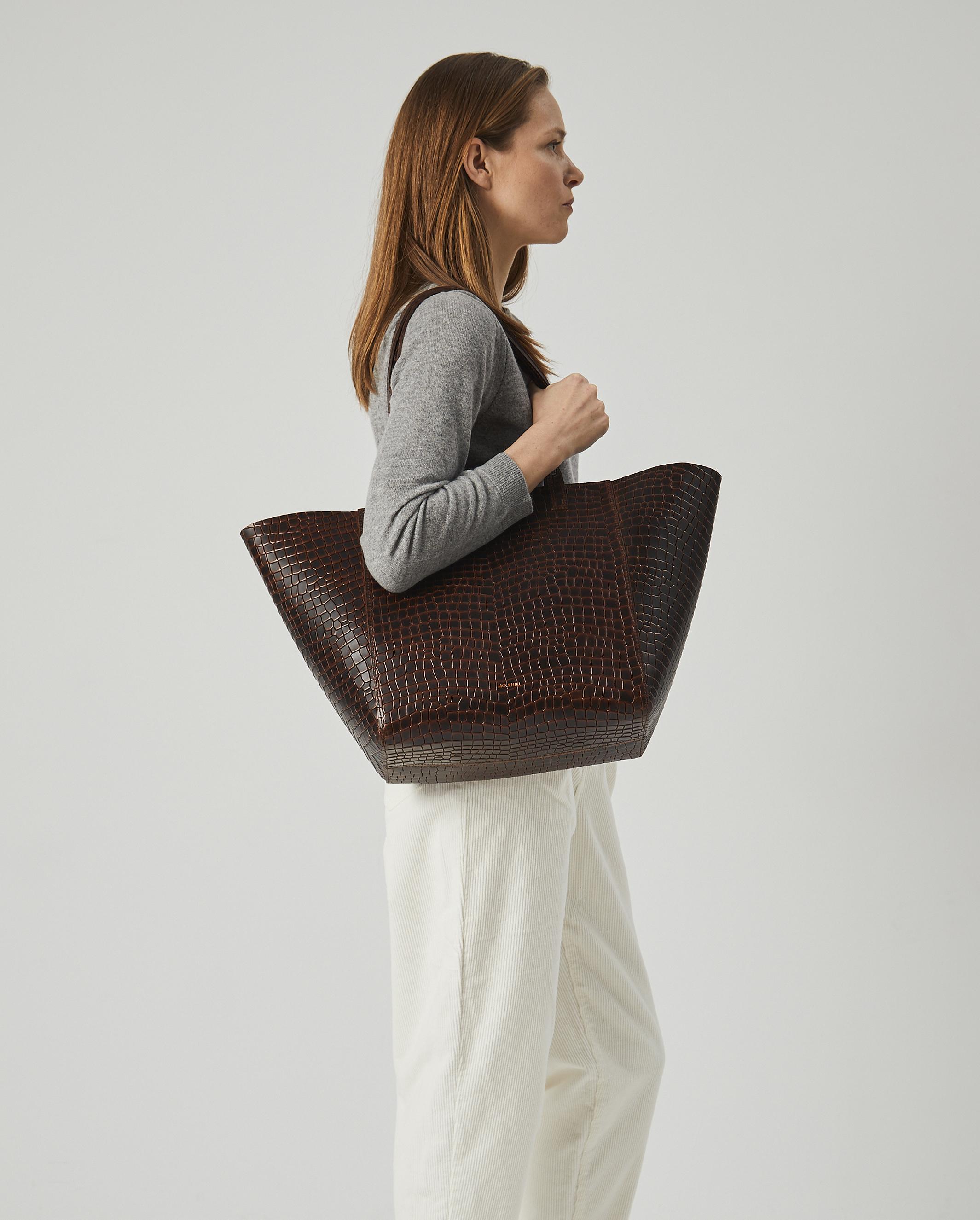Torba ESTE Medium Zip Shopper Bag Croco 5