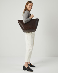 Torba ESTE Medium Zip Shopper Bag Croco 8