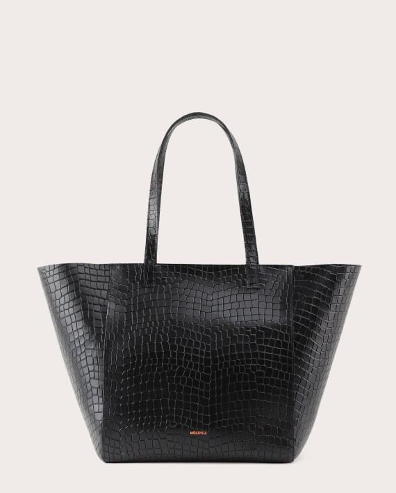 Torba ESTE Medium Zip Shopper Bag Croco Black 1