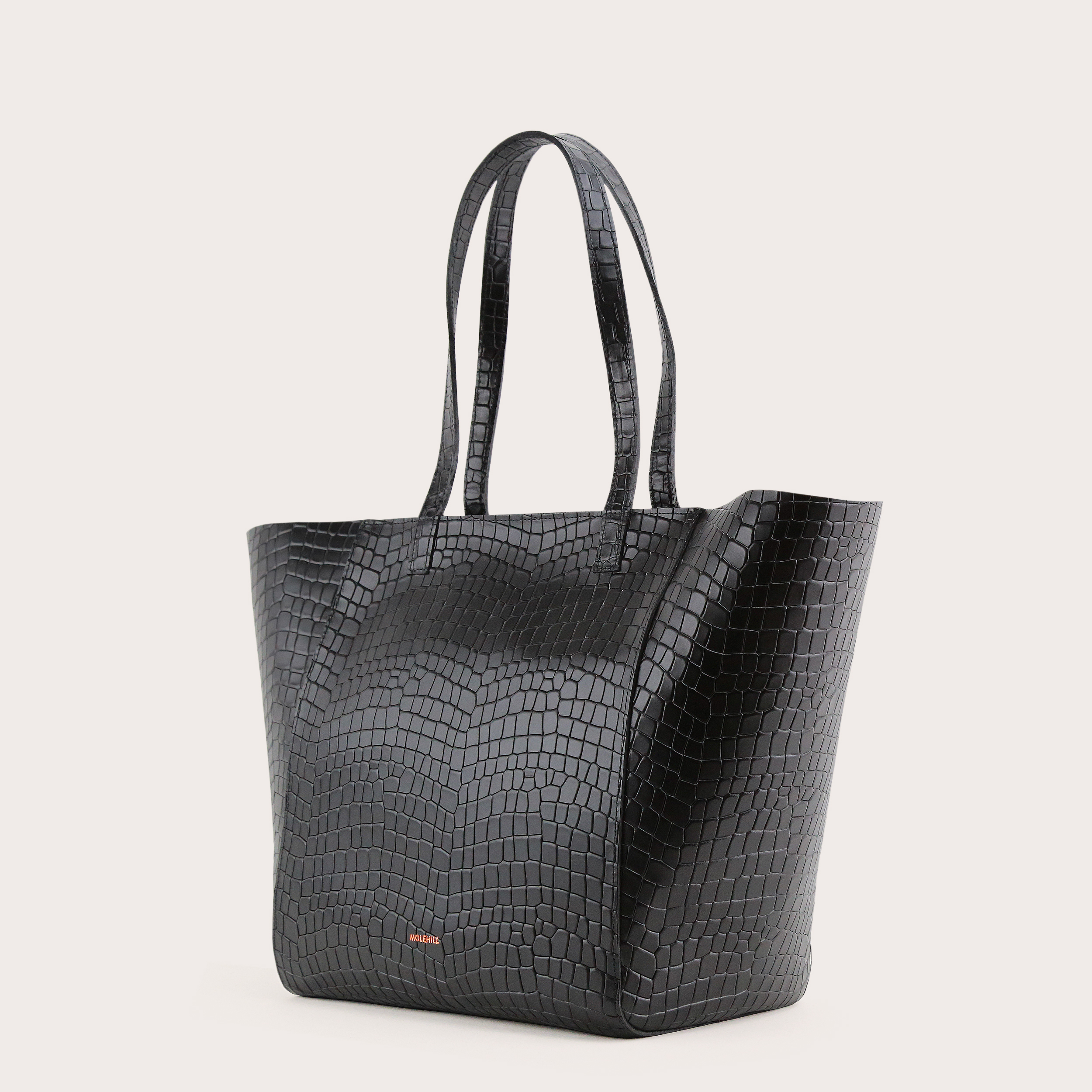 Torba ESTE Medium Zip Shopper Bag Croco Black 3