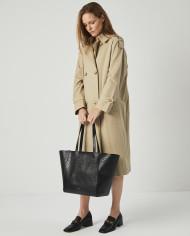 Torba ESTE Medium Zip Shopper Bag Croco Black 6