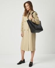 Torba ESTE Medium Zip Shopper Bag Croco Black 7