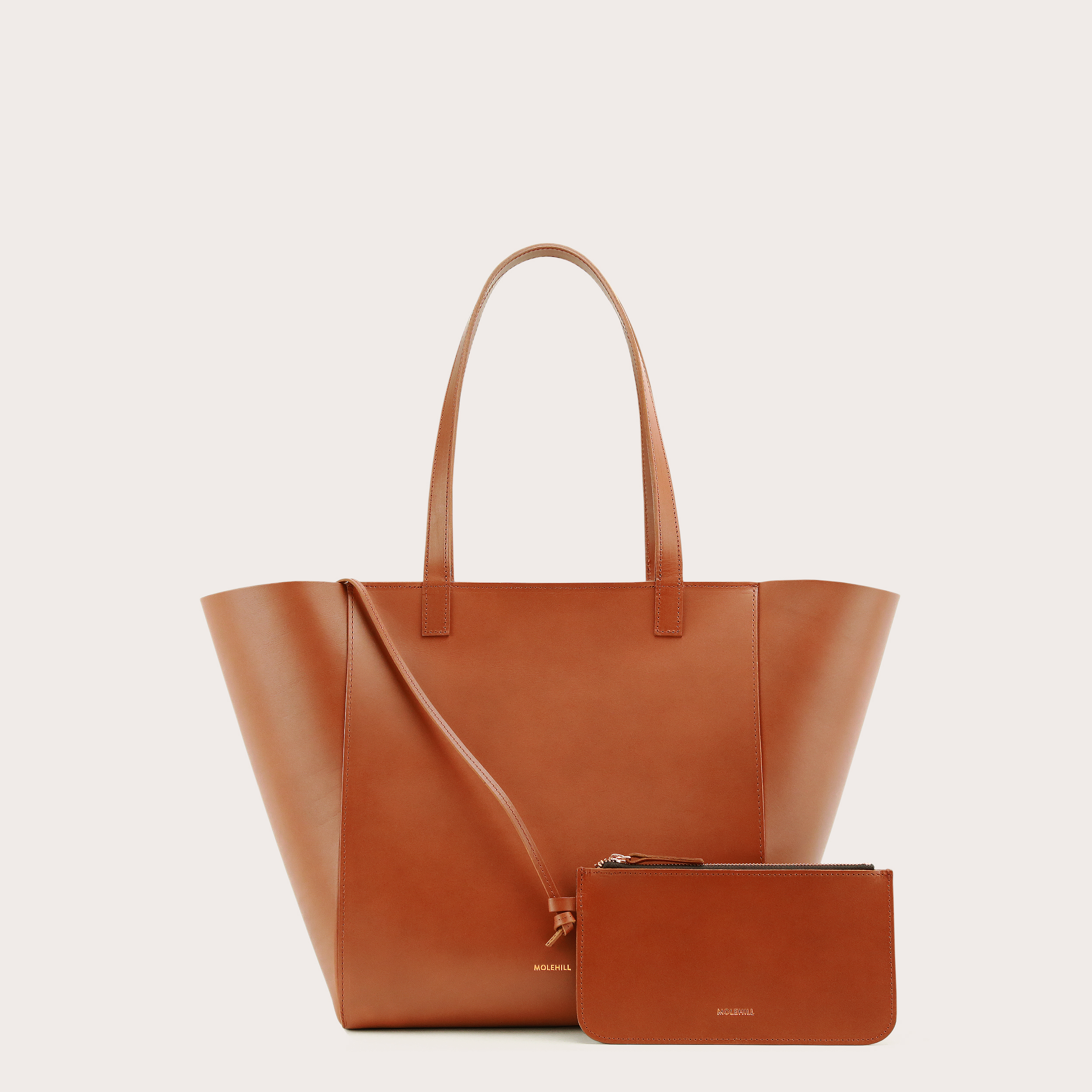 Torba ESTE Medium Zip Shopper Bag Tan 2