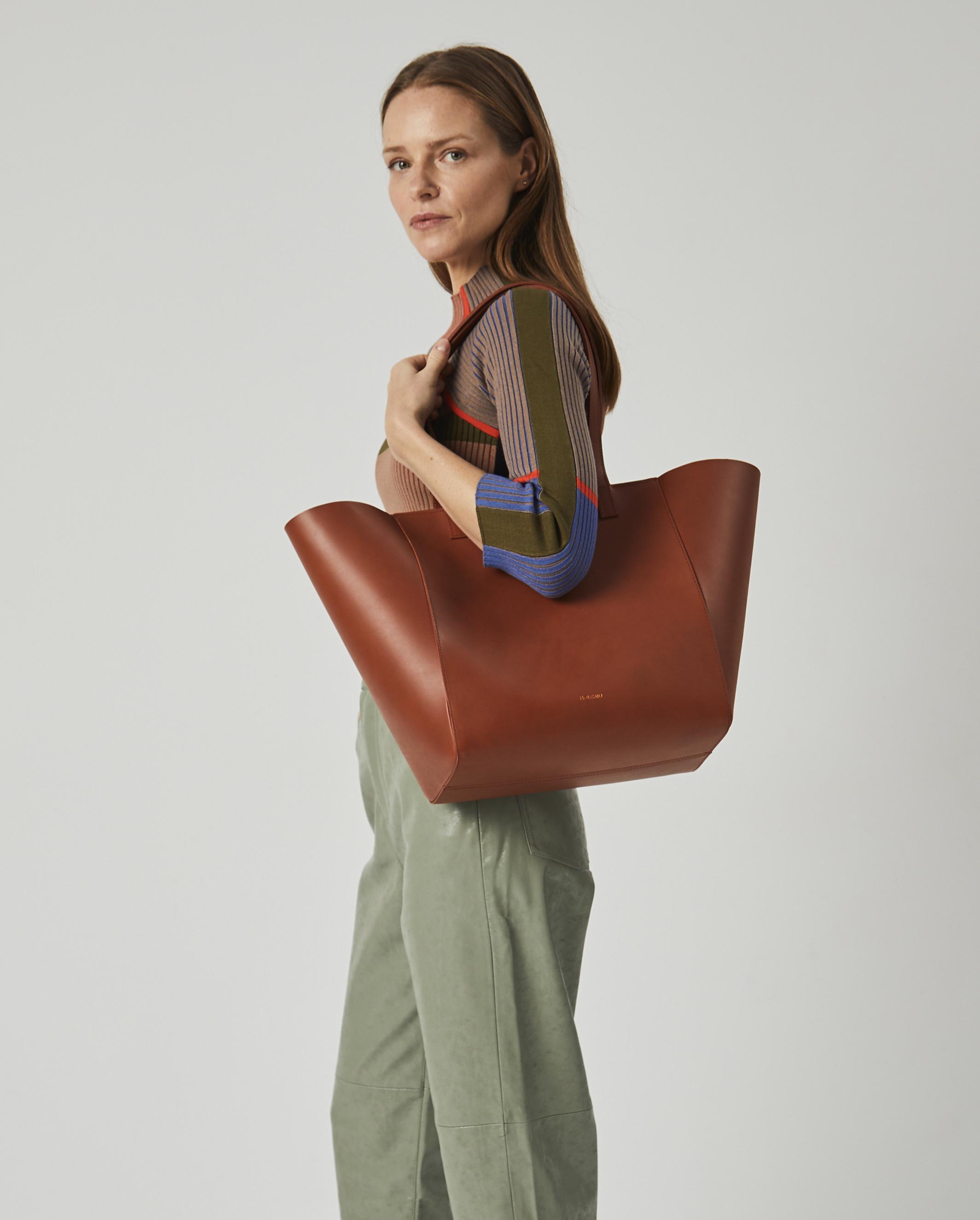 Torba ESTE Medium Zip Shopper Bag Tan 5