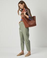 Torba ESTE Medium Zip Shopper Bag Tan 7