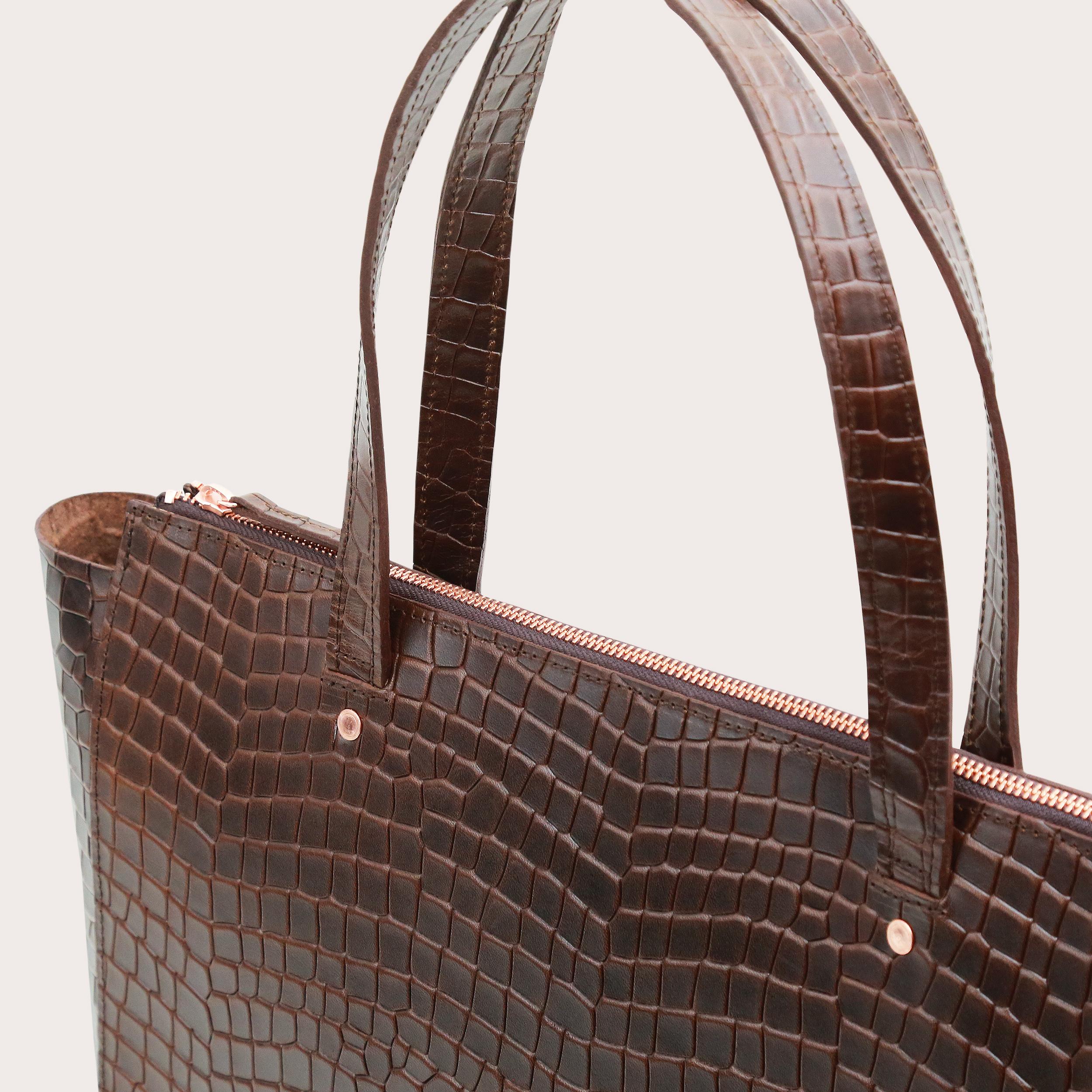Torba SUR Large Zip Weekender Bag Croco 3