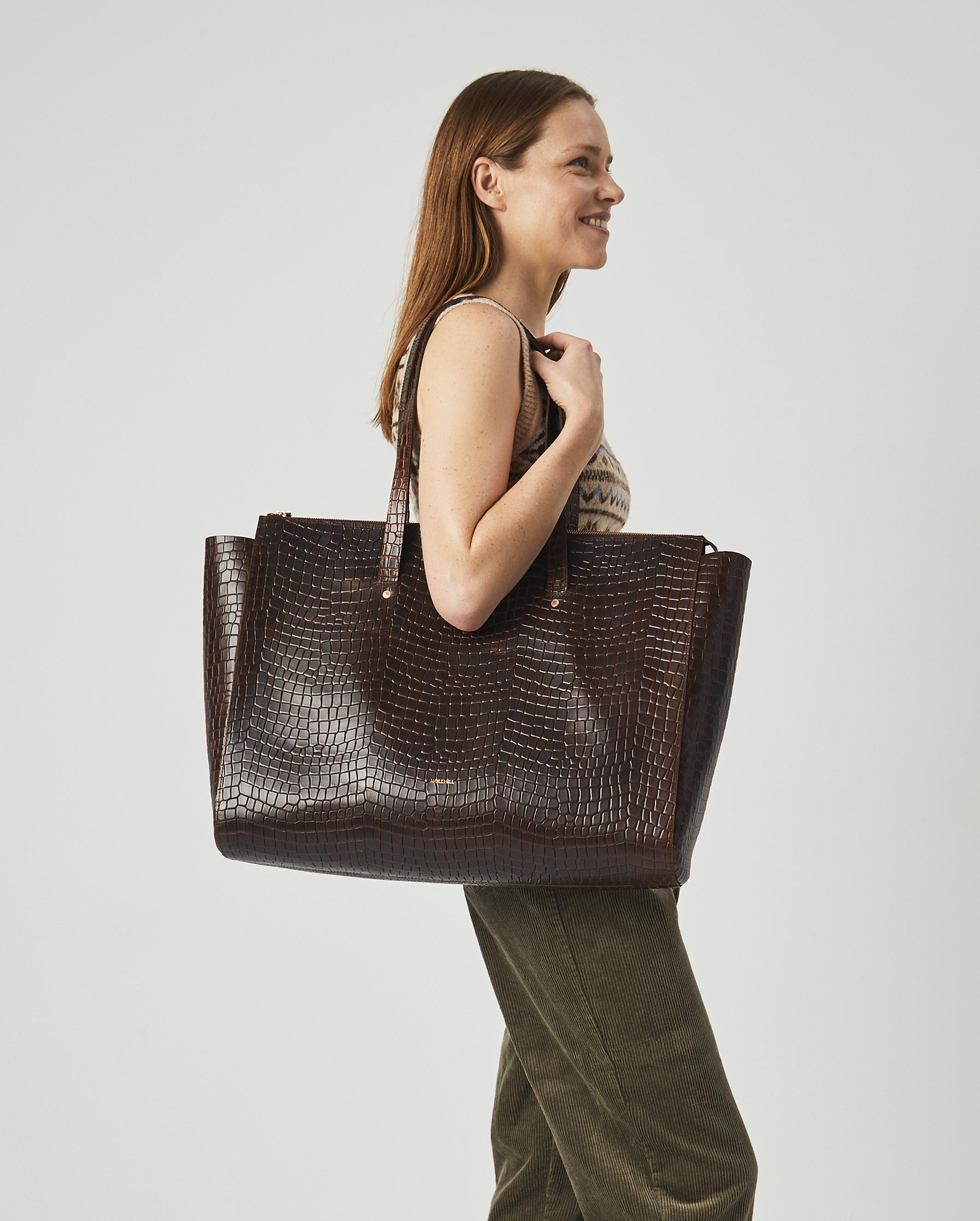 Torba SUR Large Zip Weekender Bag Croco 4