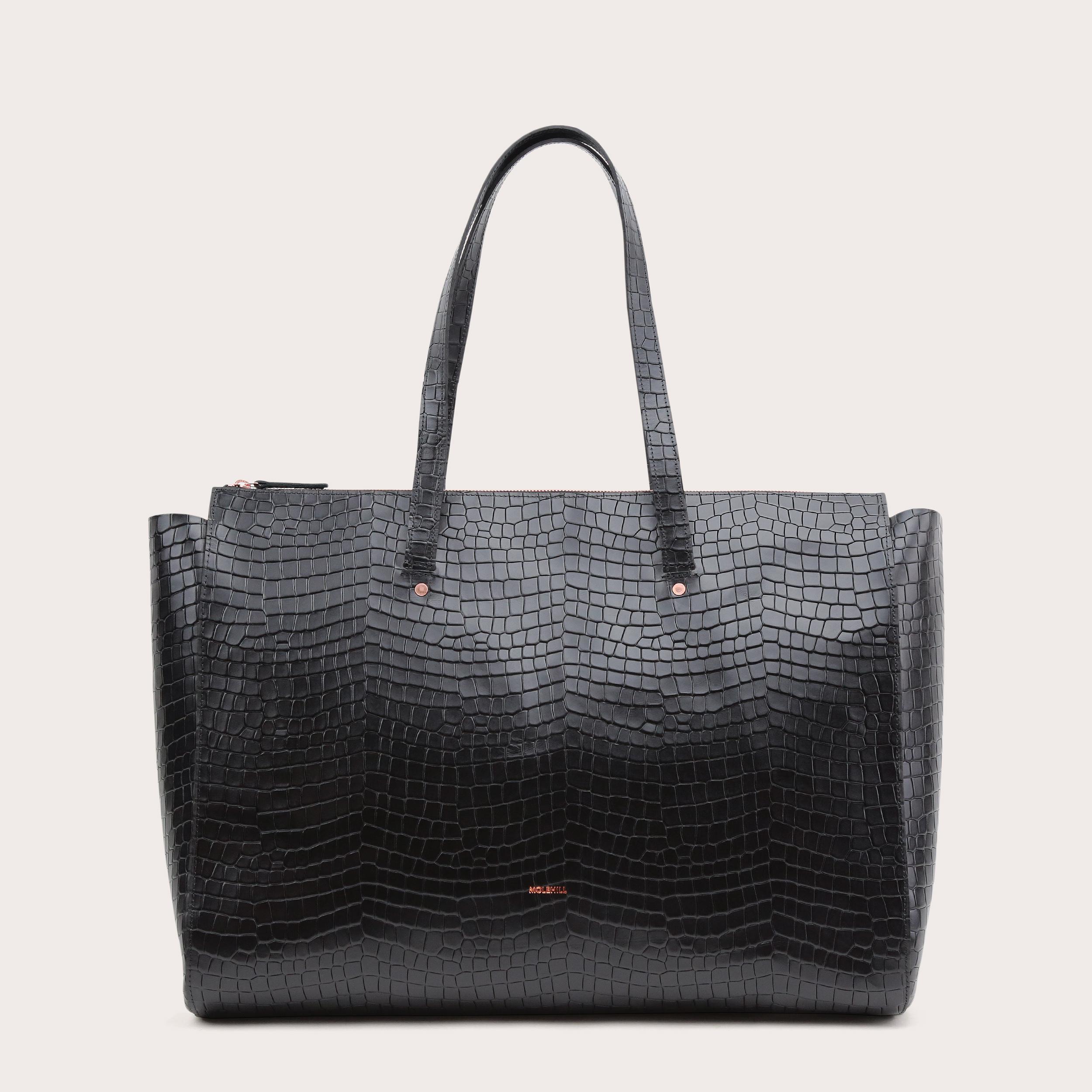 Torba SUR Large Zip Weekender Bag Croco Black 1