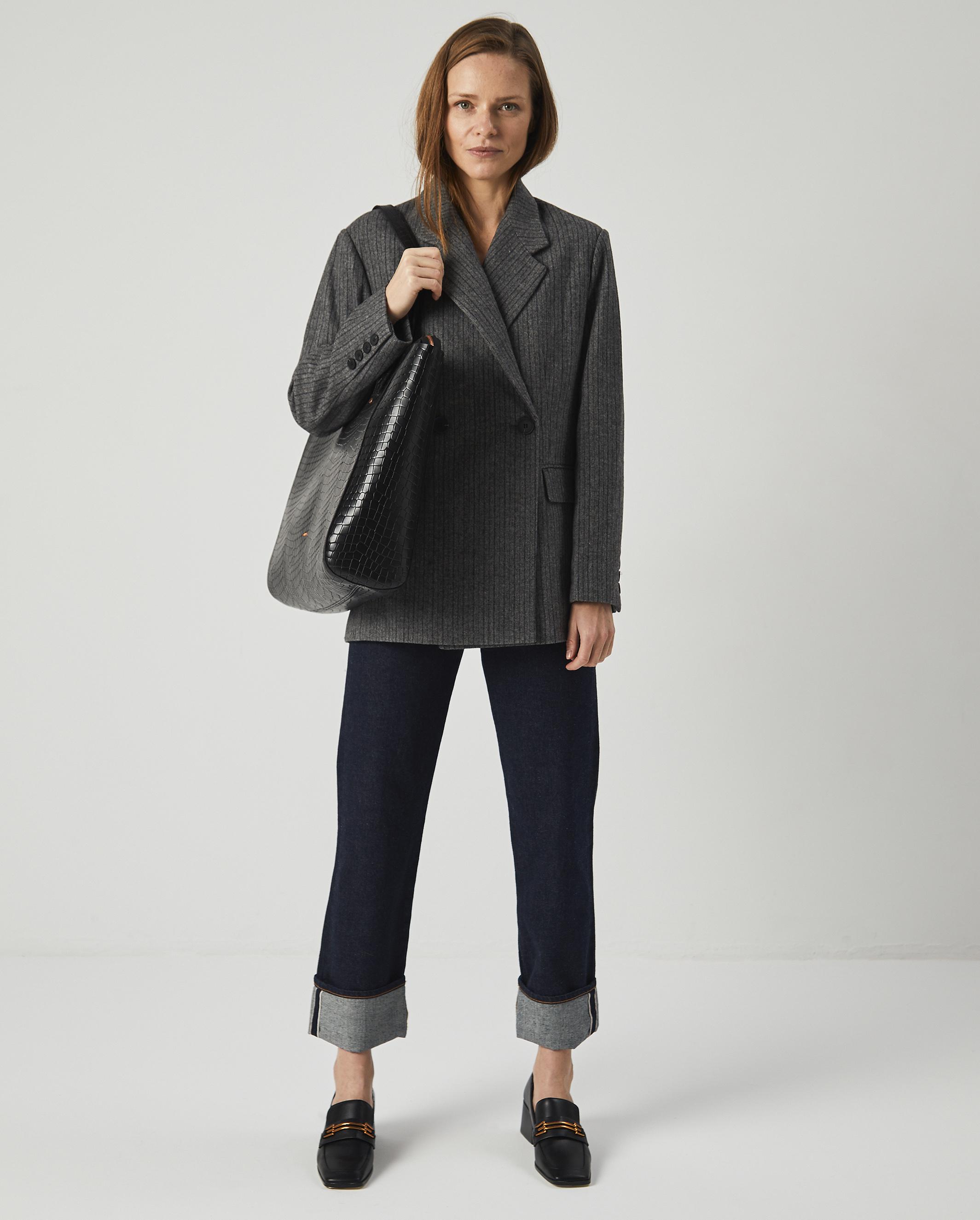 Torba SUR Large Zip Weekender Bag Croco Black 6