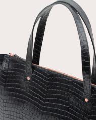 Torba SUR Medium Everyday Bag Croco Black 3