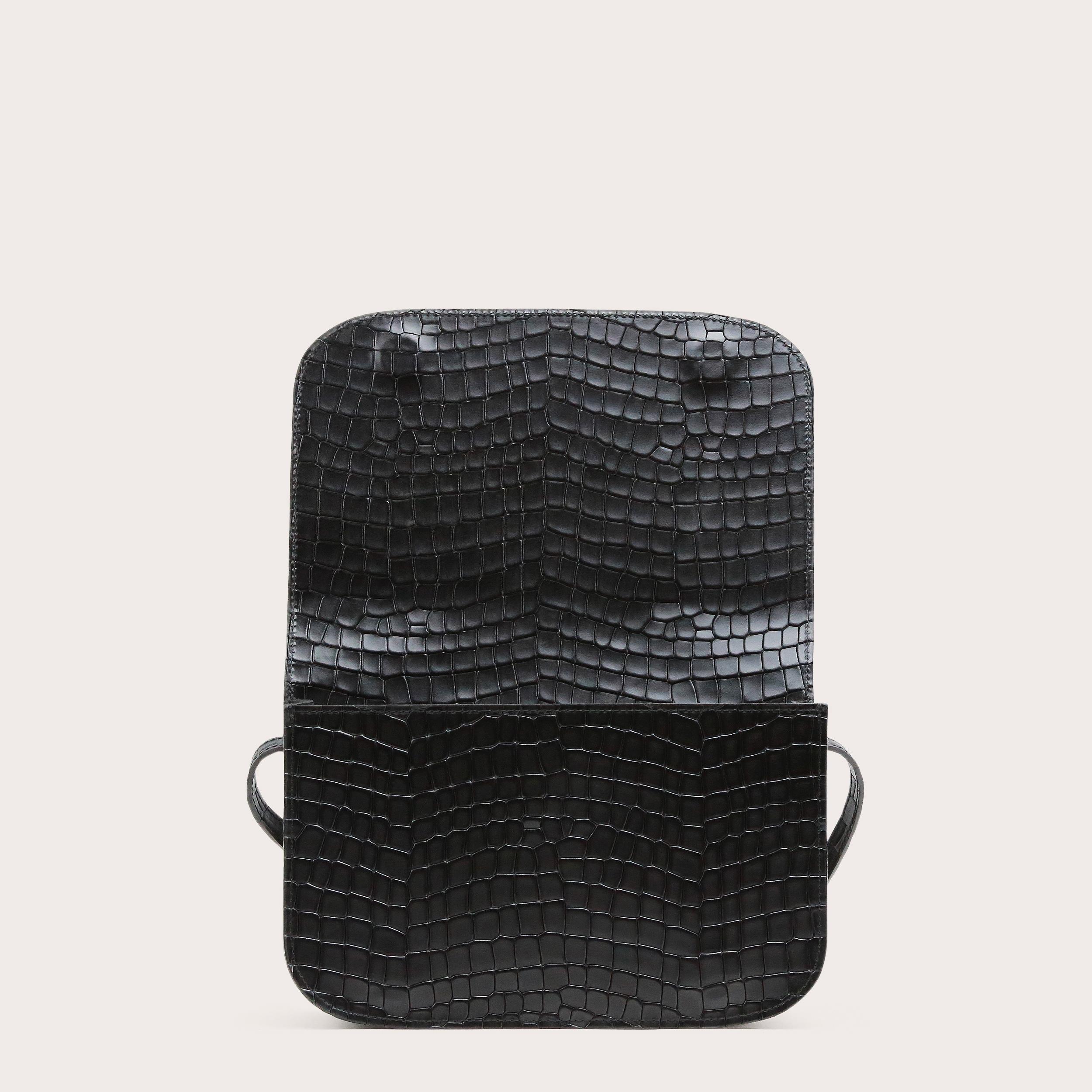 Torebka NORTE Crossbody Bag Croco Black 4