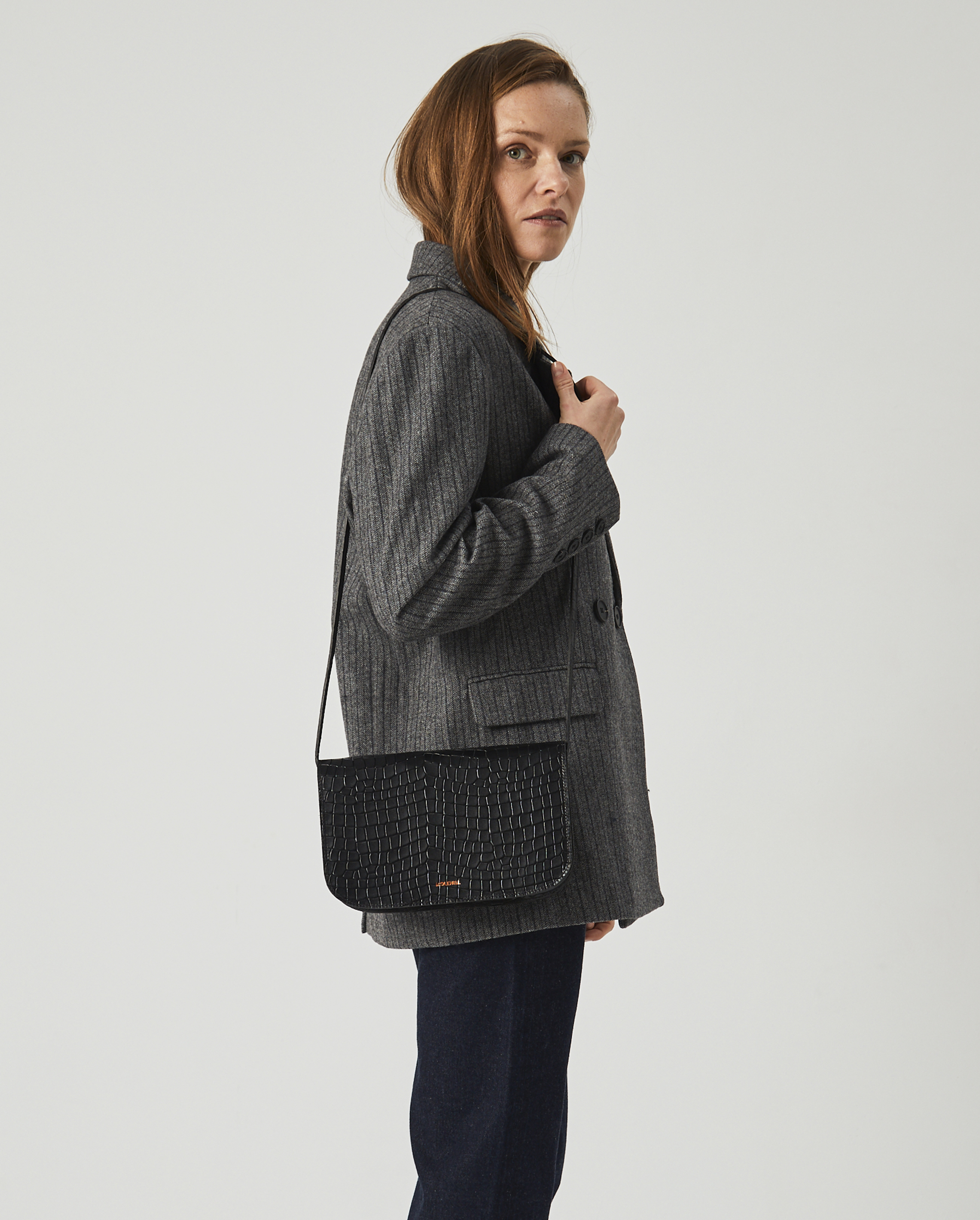 Torebka NORTE Crossbody Bag Croco Black 6
