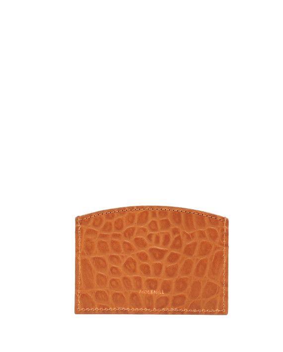 CARD HOLDER CROCO Honey 2-1