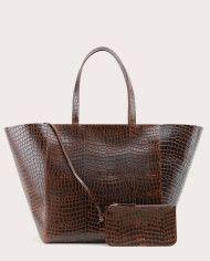 Torba ESTE Large Zip Weekender Bag Croco 2