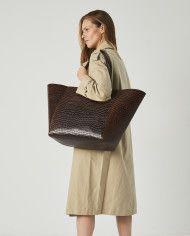 Torba ESTE Large Zip Weekender Bag Croco 5