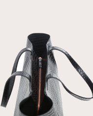 Torba ESTE Large Zip Weekender Bag Croco Black 4
