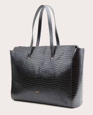 Torba SUR Large Zip Weekender Bag Croco Black 2