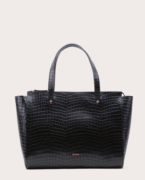 Torba SUR Medium Everyday Bag Croco Black 1