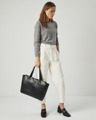 Torba SUR Medium Everyday Bag Croco Black 5