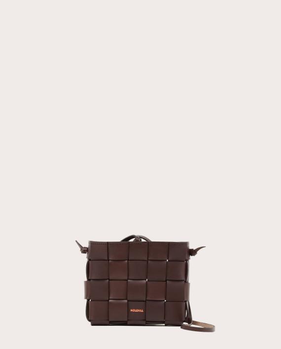 PANE Mini Crossbody Woven Bag Dark Chocolate-1