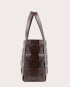 PANE Shopper Woven Bag Horizontal Dark Chocolate-3
