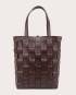 PANE Shopper Woven Bag Vertical Dark Chocolate 1