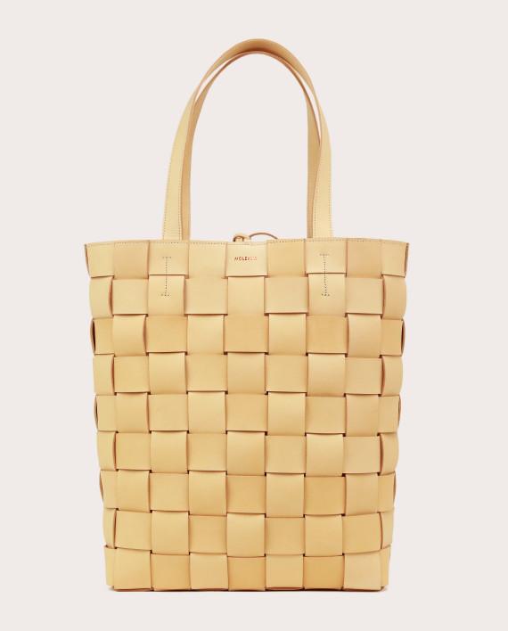 PANE Shopper Woven Bag Vertical Natural-1