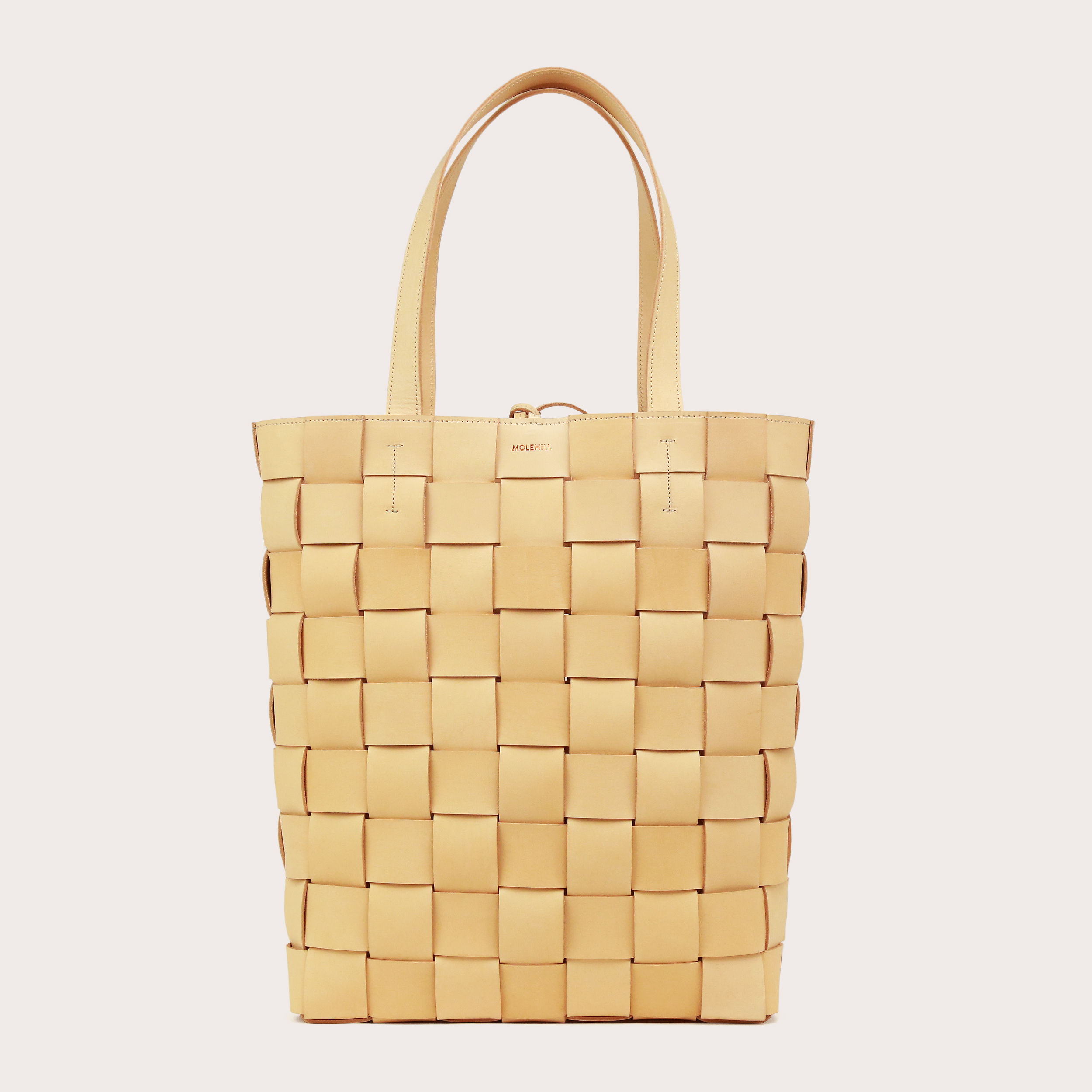 PANE Shopper Woven Bag Vertical Natural-1