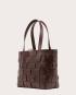 PANE Tote Woven Bag Dark Chocolate-2
