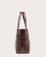 PANE Tote Woven Bag Dark Chocolate-3