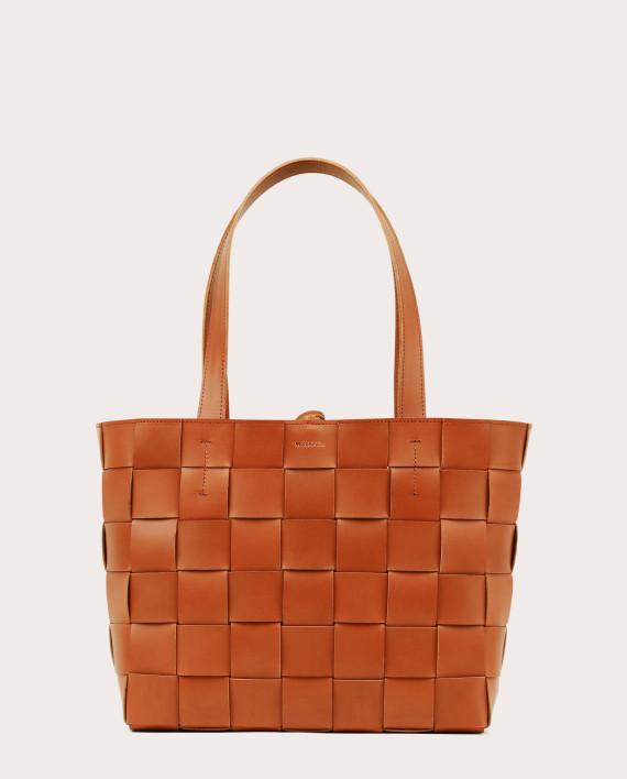 PANE Tote Woven Bag Tan-1