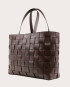 PANE Weekender Woven Bag Dark Chocolate-2
