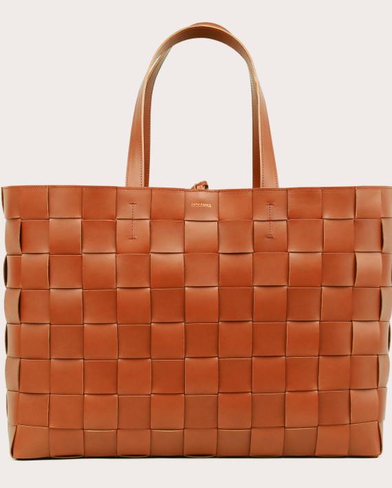 PANE Weekender Woven Bag Tan-1