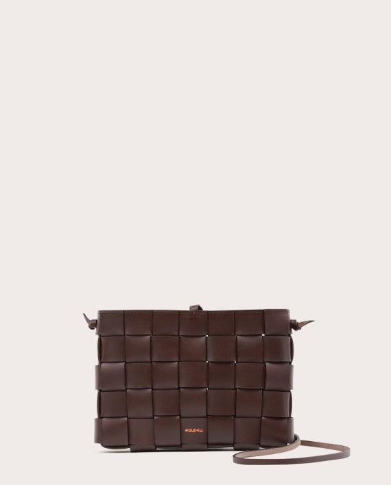 PANE Crossbody Woven Bag Dark Chocolate-1
