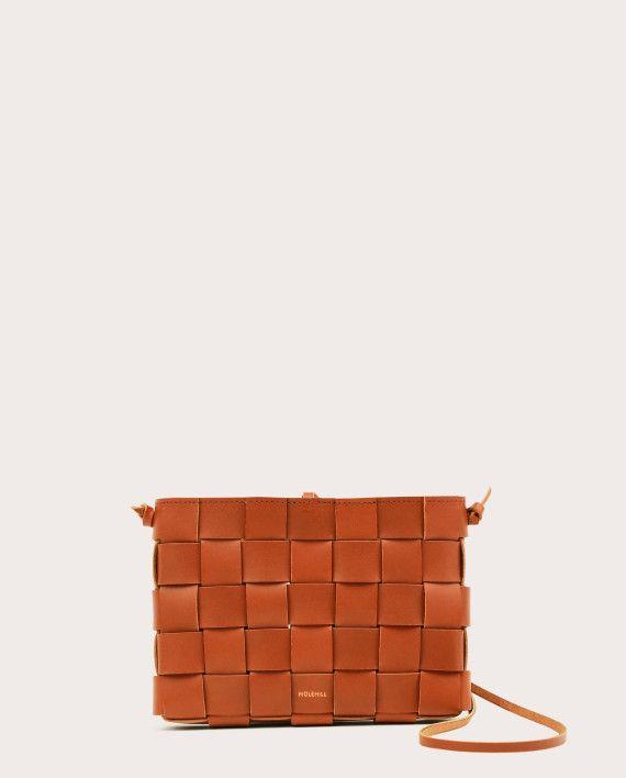 PANE Crossbody Woven Bag Tan-1