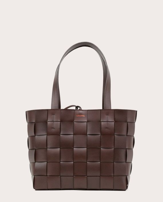 PANE Tote Woven Bag Dark Chocolate-1