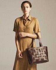 PANE Tote Woven Bag Dark Chocolate-5