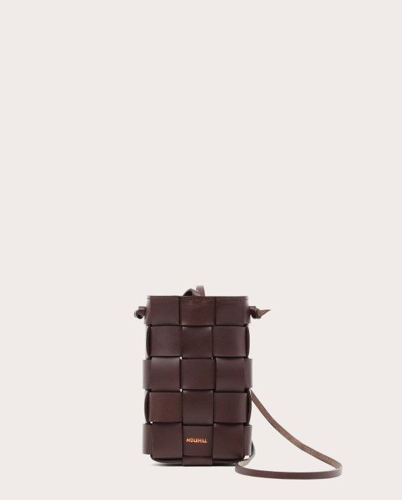 PANETTO Woven Pouch Dark Chocolate-1